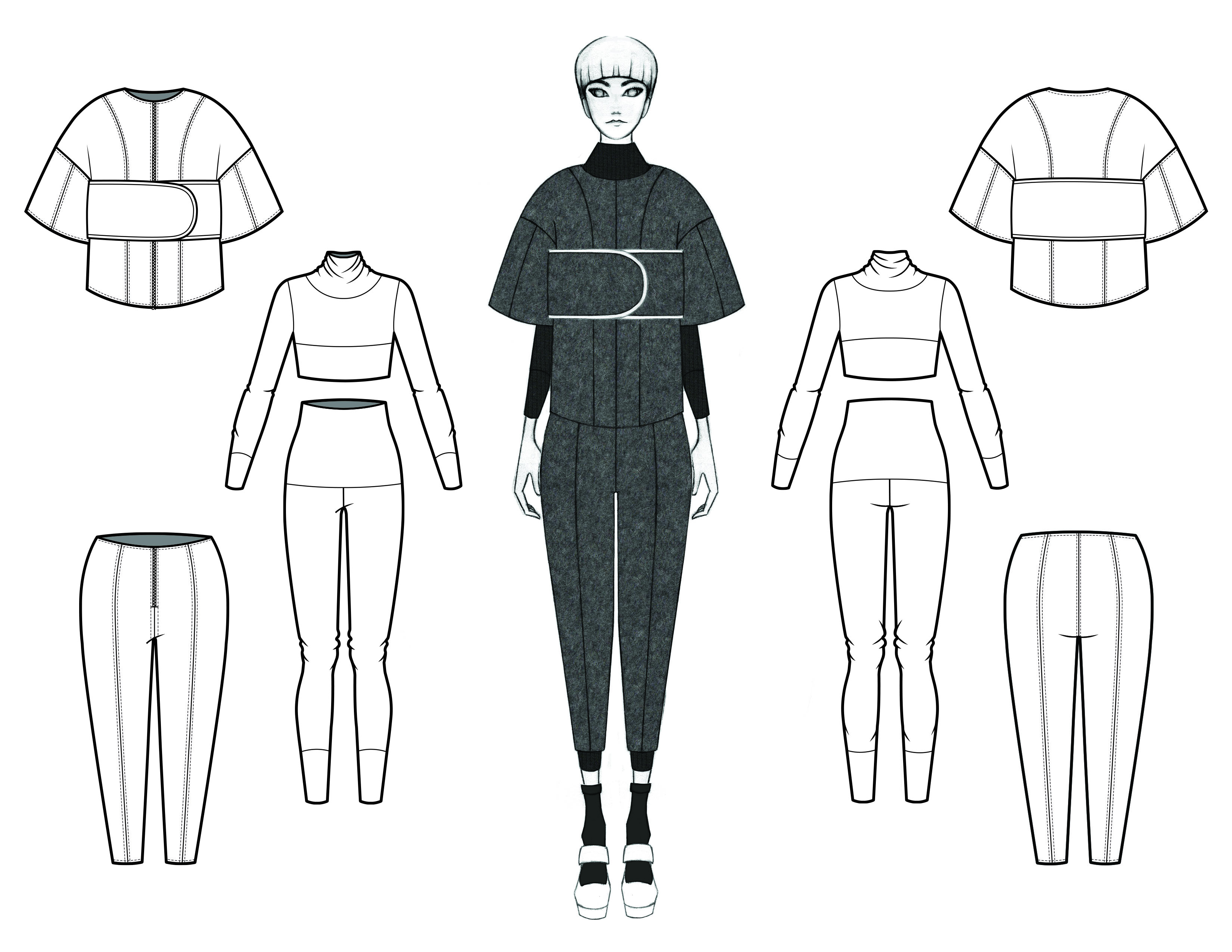 MGHN Capsule Look 10 Illustration and Flats