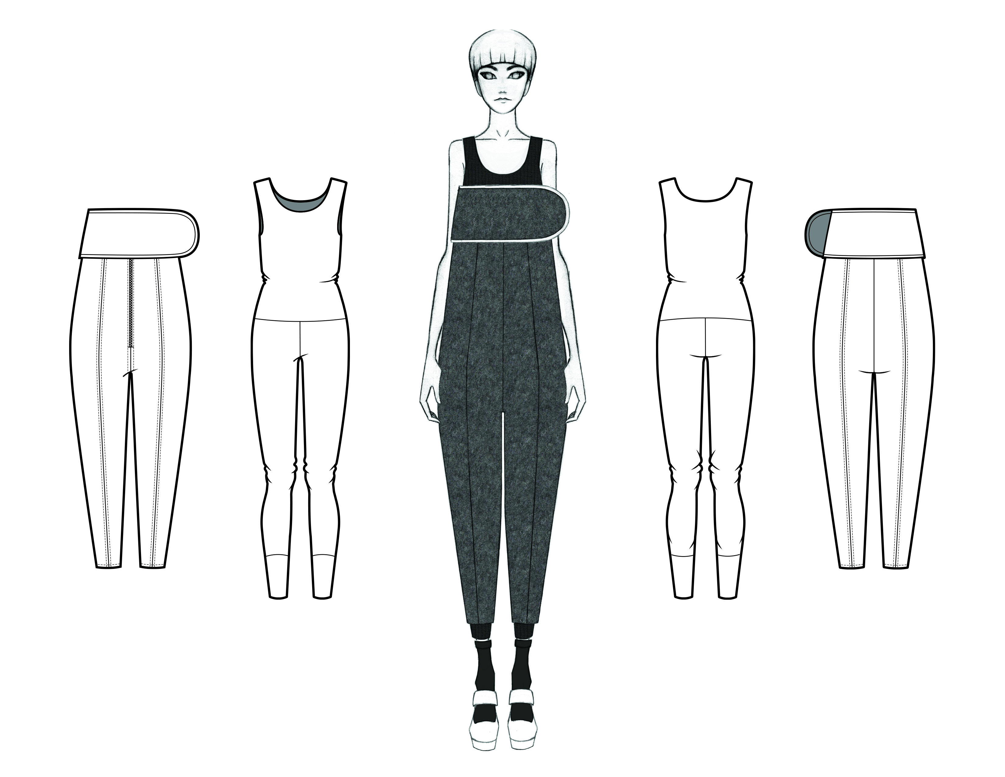 MGHN Capsule Look 11 Illustration and Flats