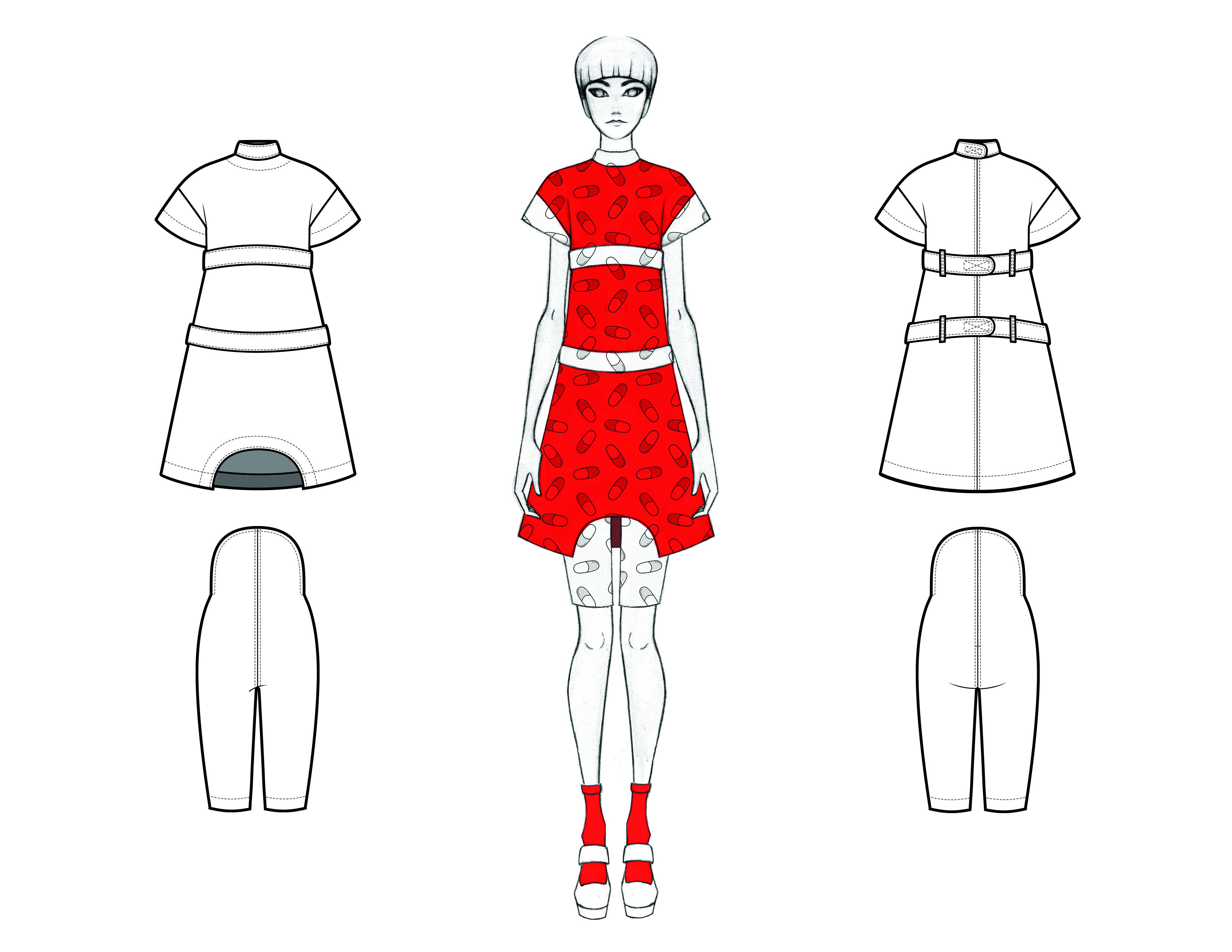 MGHN Capsule Look 12 Illustration and Flats