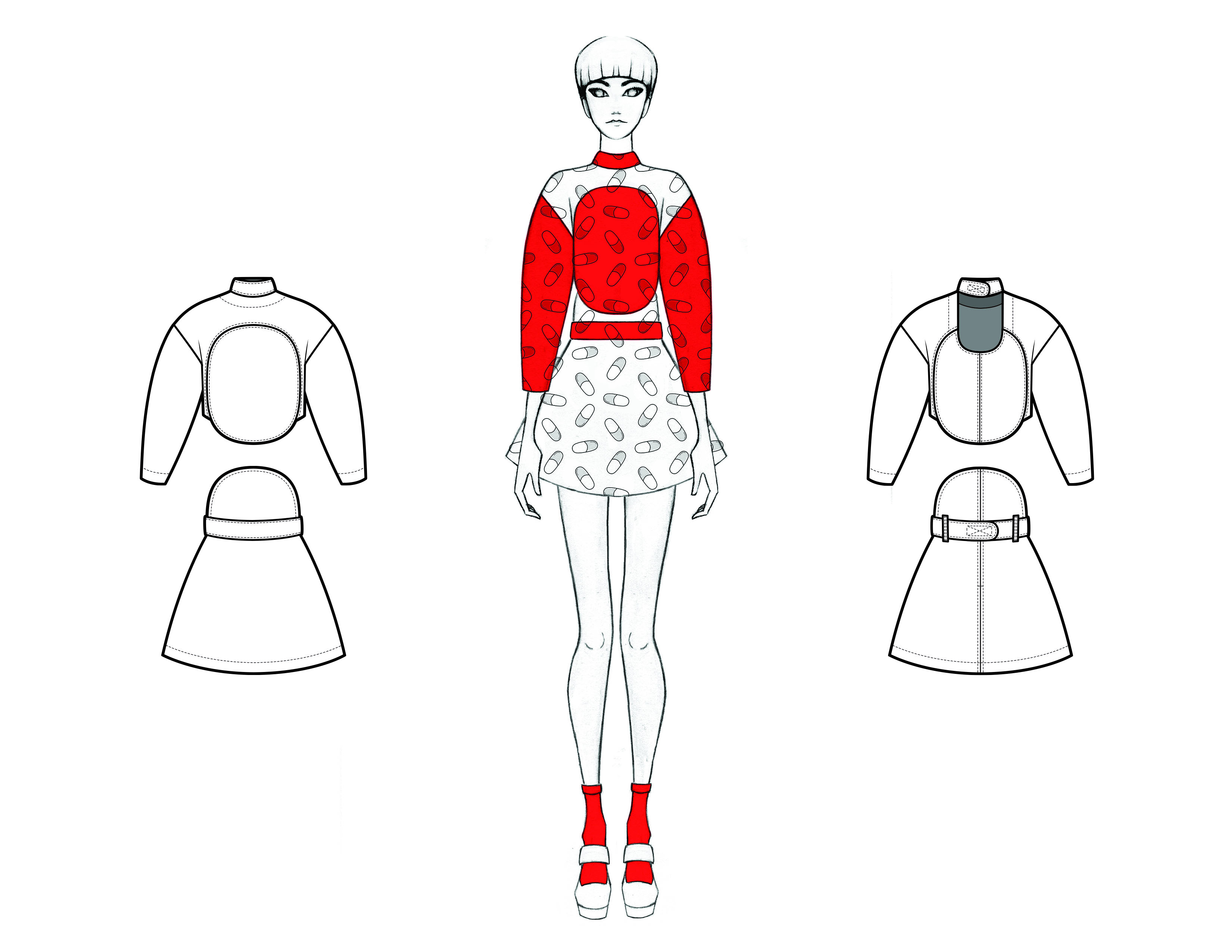 MGHN Capsule Look 14 Illustration and Flats
