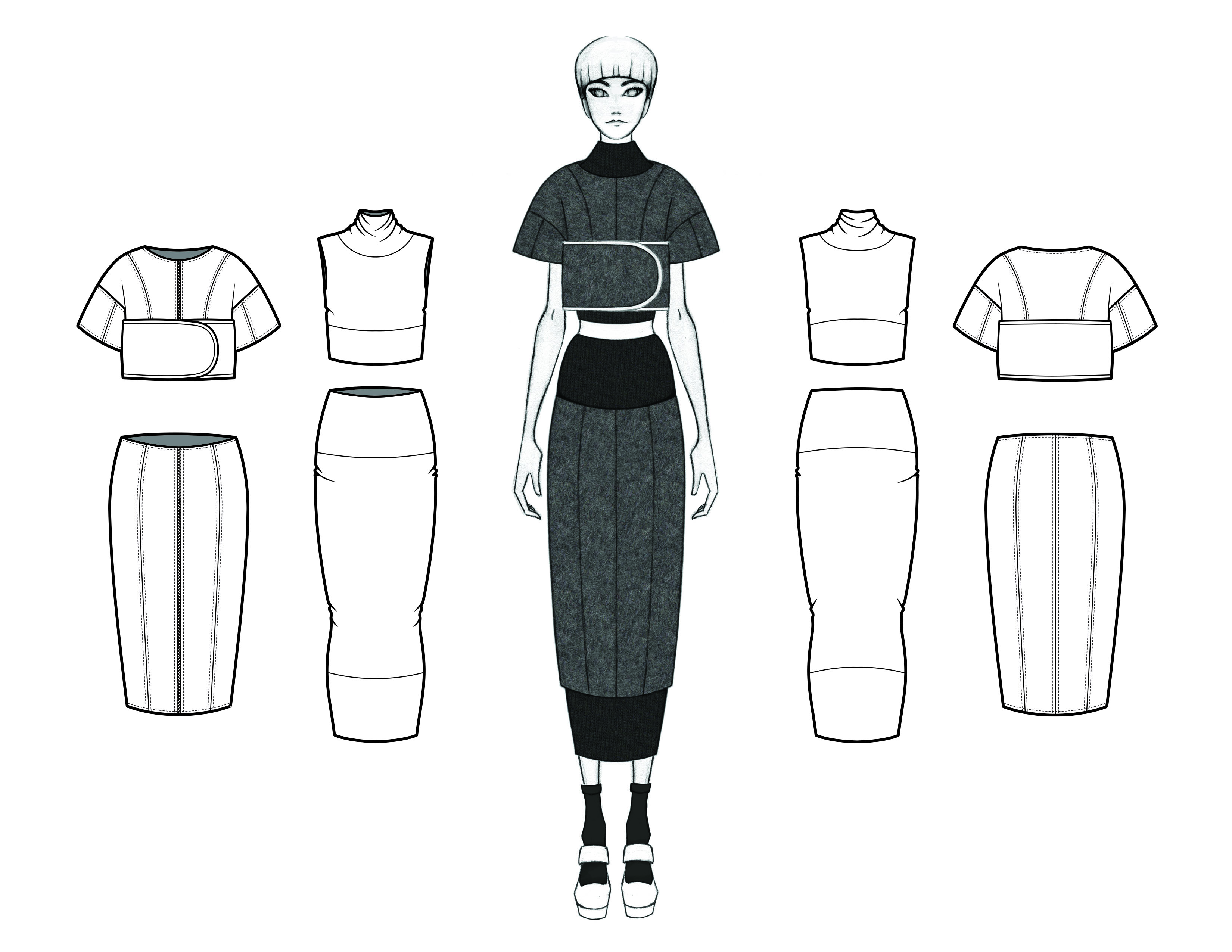 MGHN Capsule Look 15 Illustration and Flats