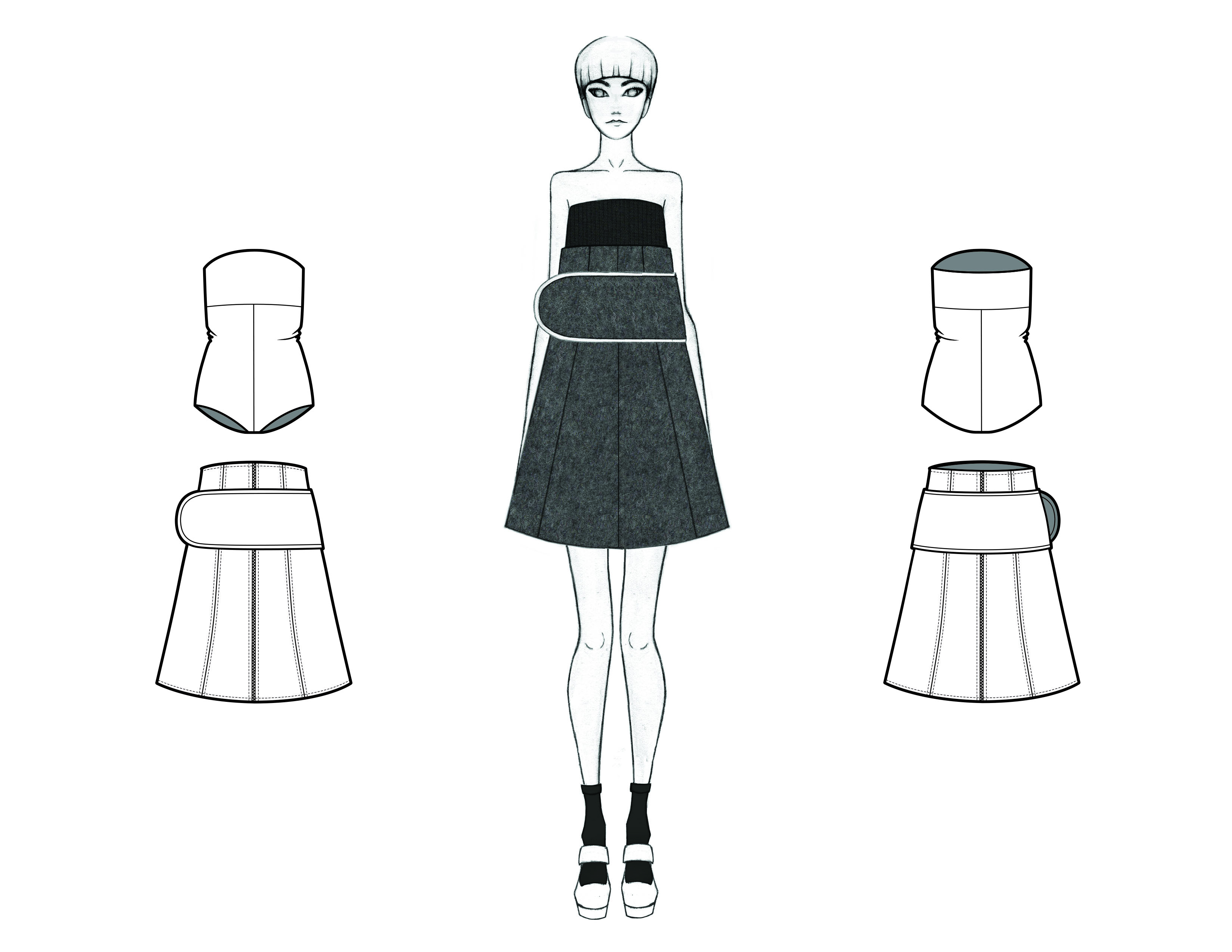 MGHN Capsule Look 16 Illustration and Flats