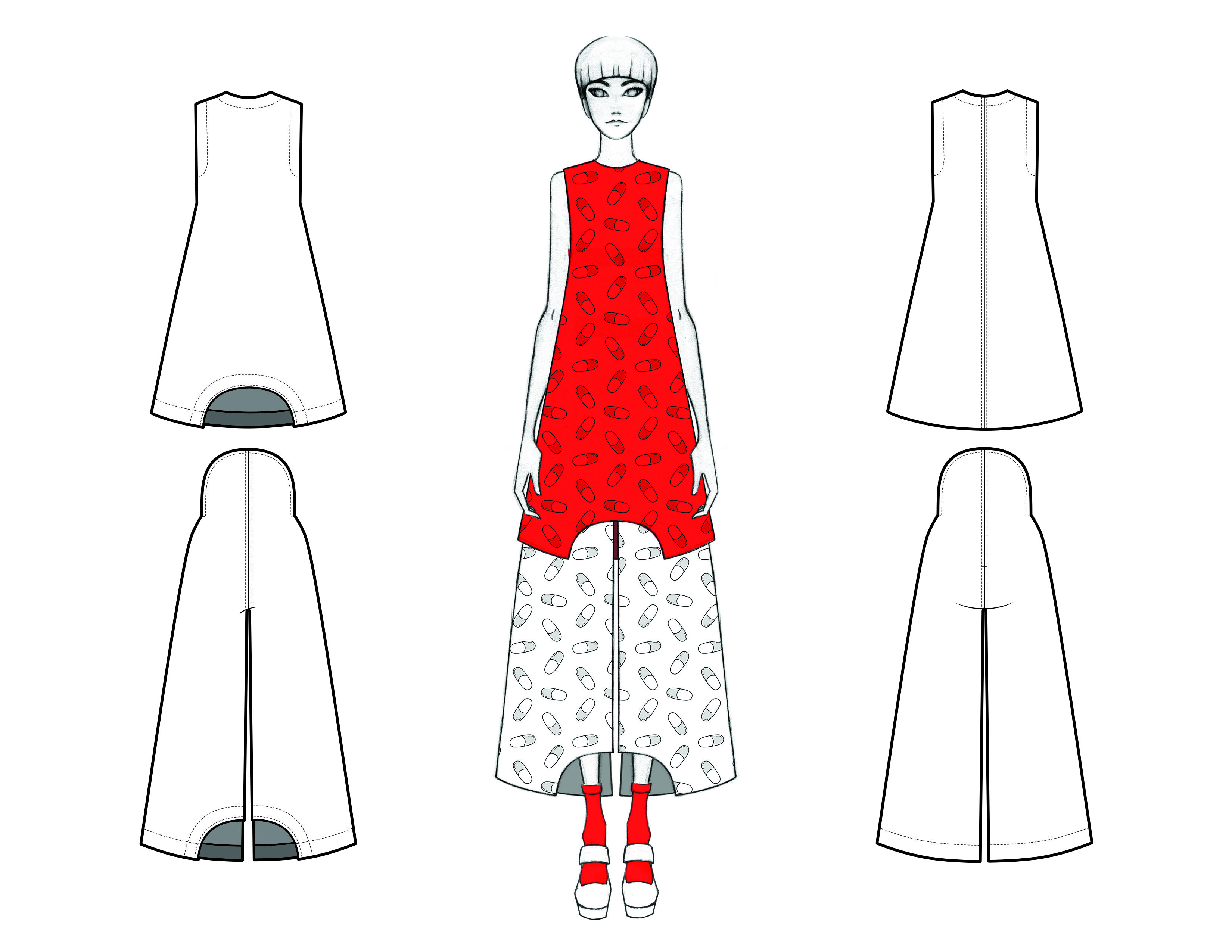 MGHN Capsule Look 18 Illustration and Flats