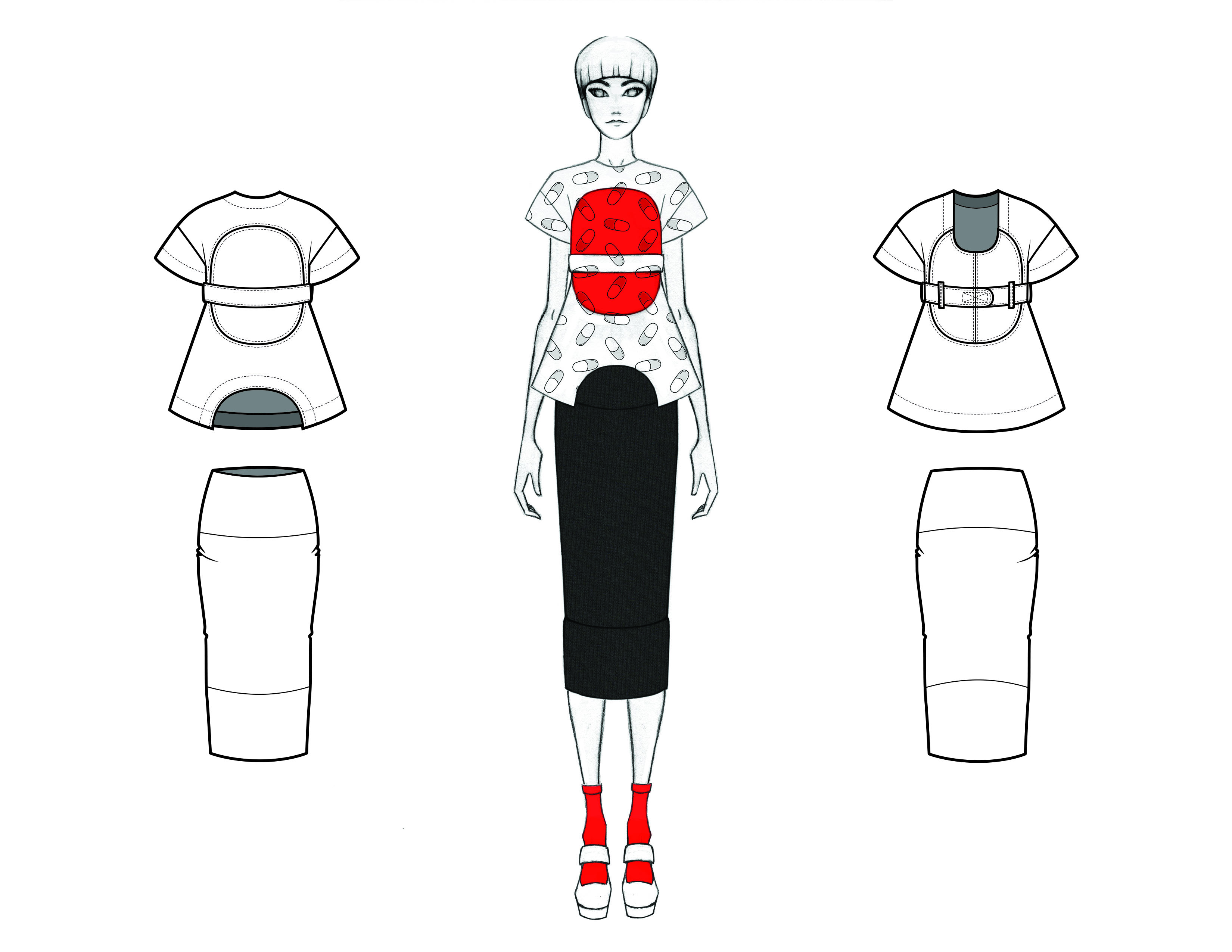 MGHN Capsule Look 19 Illustration and Flats