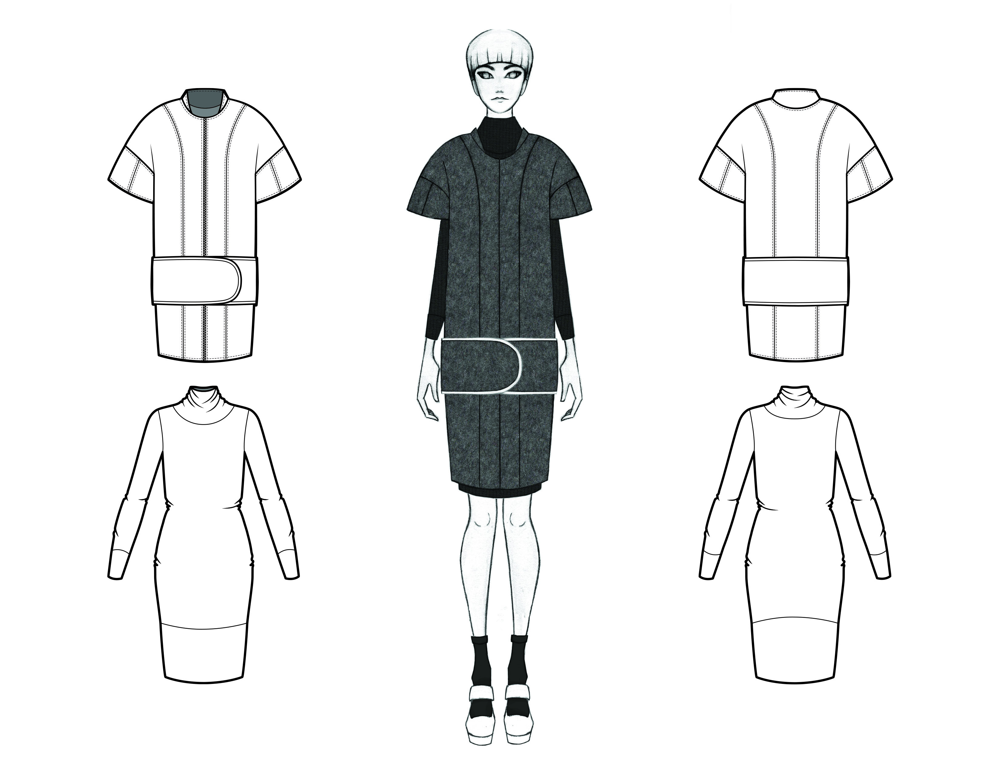 MGHN Capsule Look 1 Illustration and Flats