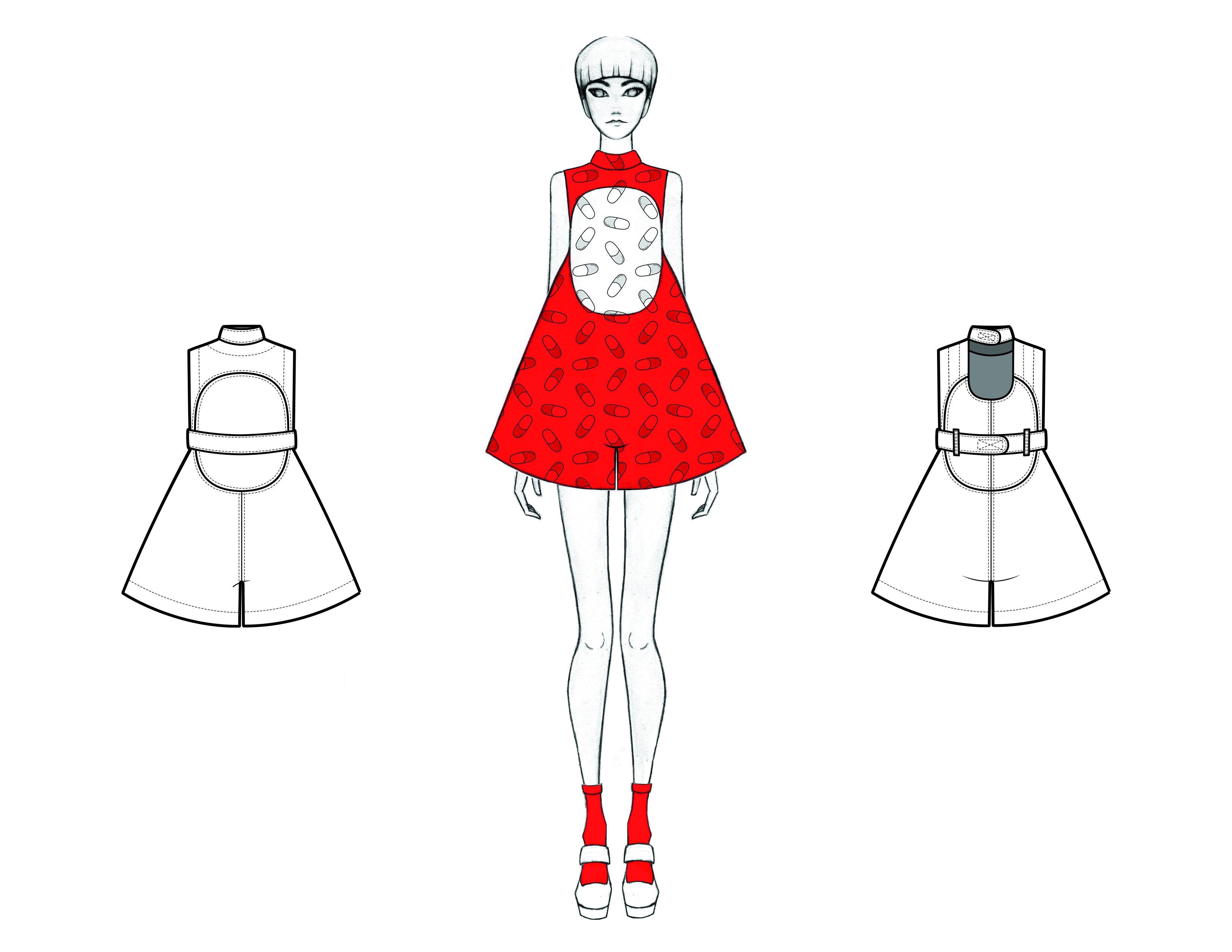 MGHN Capsule Look 20 Illustration and Flats