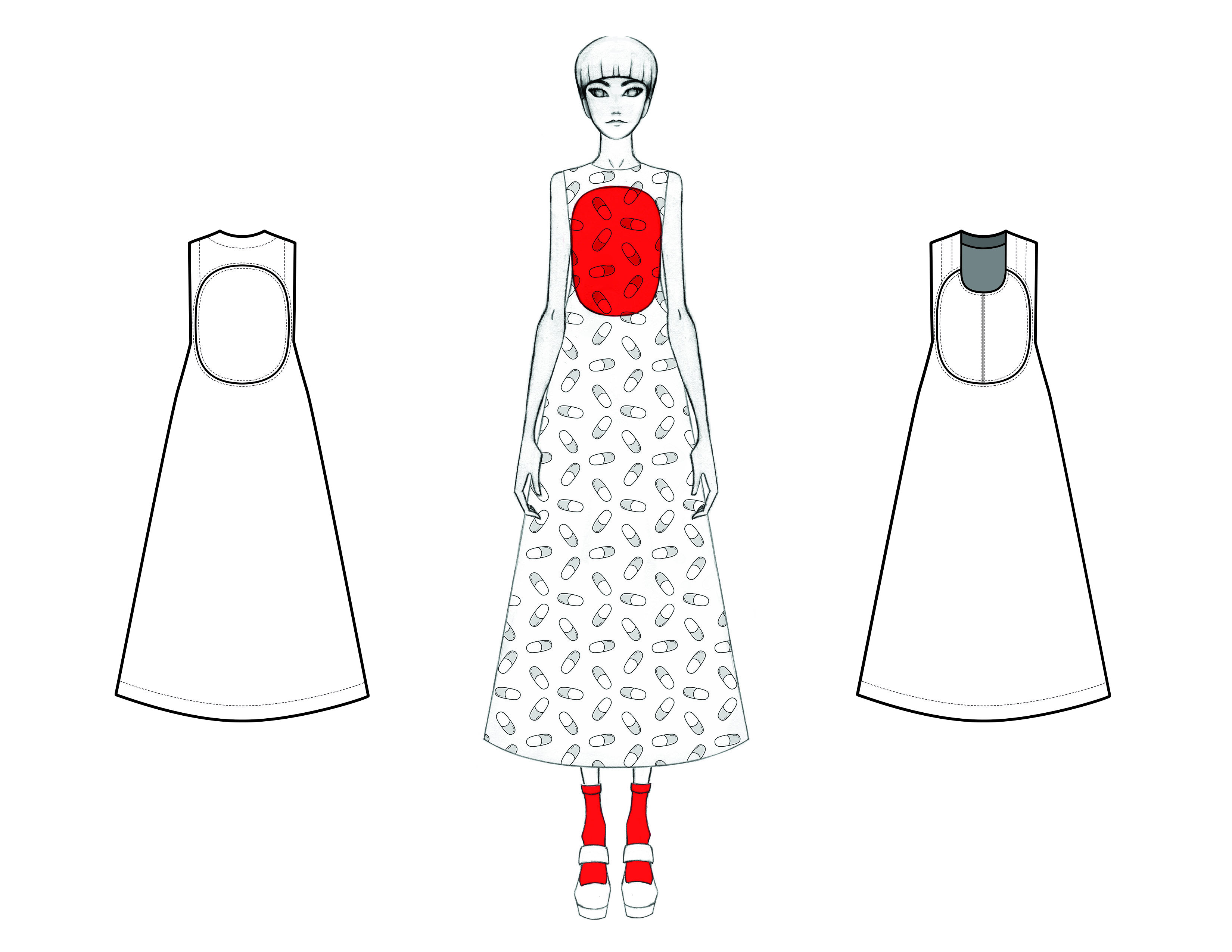 MGHN Capsule Look 6 Illustration and Flats