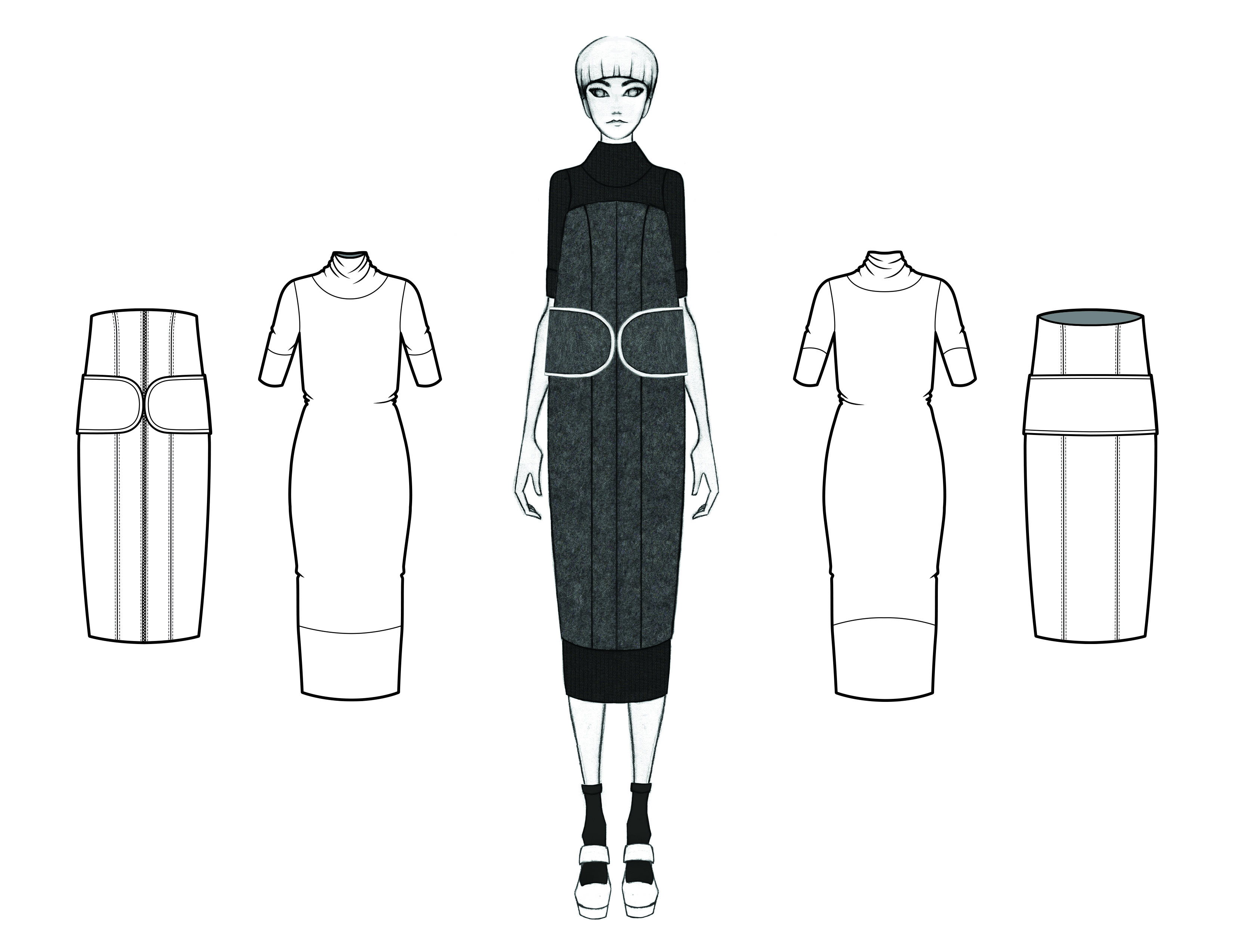 MGHN Capsule Look 7 Illustration and Flats