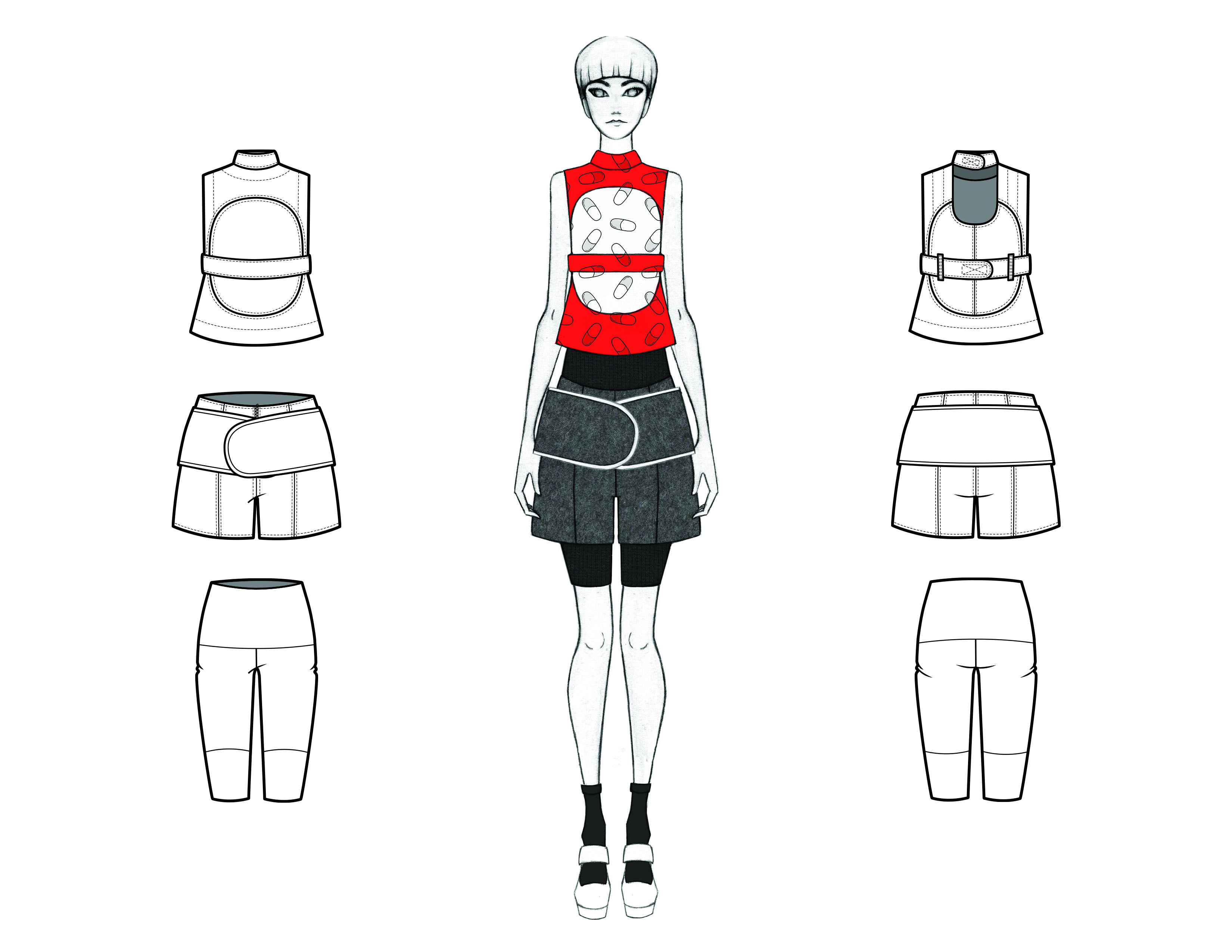 MGHN Capsule Look 8 Illustration and Flats