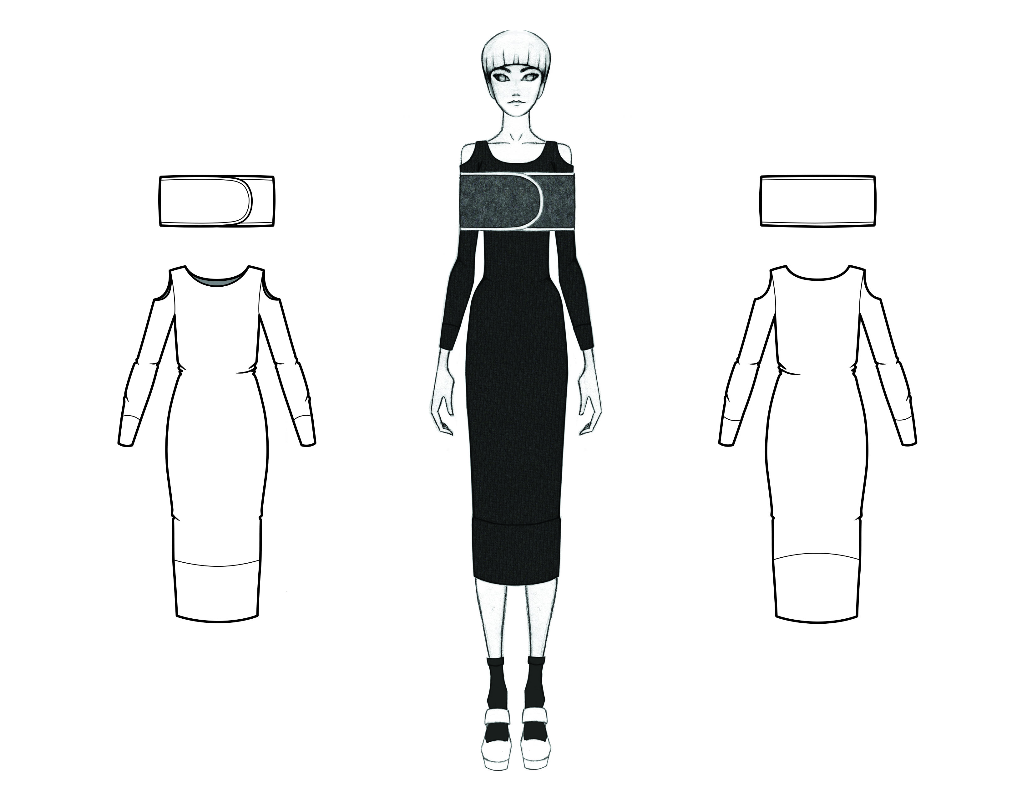 MGHN Capsule Look 9 Illustration and Flats